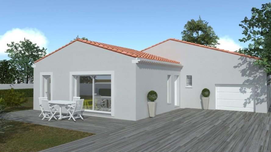 Maison traditionnelle de plain-pied de 93 m²