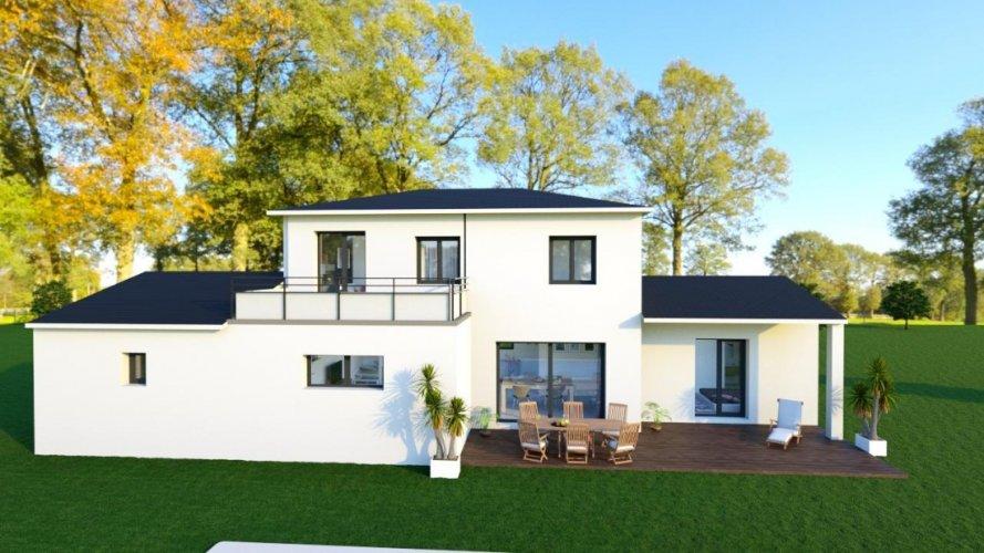 Maison Contemporaine A Etage De 122m Avec 4 Chambres Et Un Garage Maisons Passion