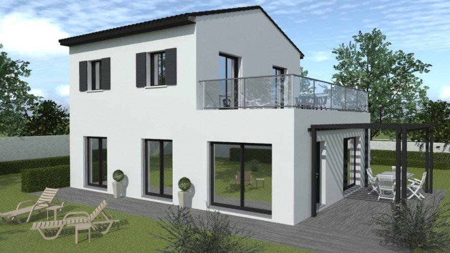 Realisation Maison Contemporaine A Etage De 121 M Avec 4 Chambres Maisons Passion