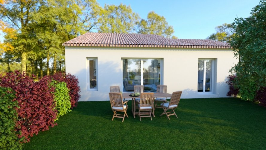 Maison traditionnelle de plain-pied de  87 m²