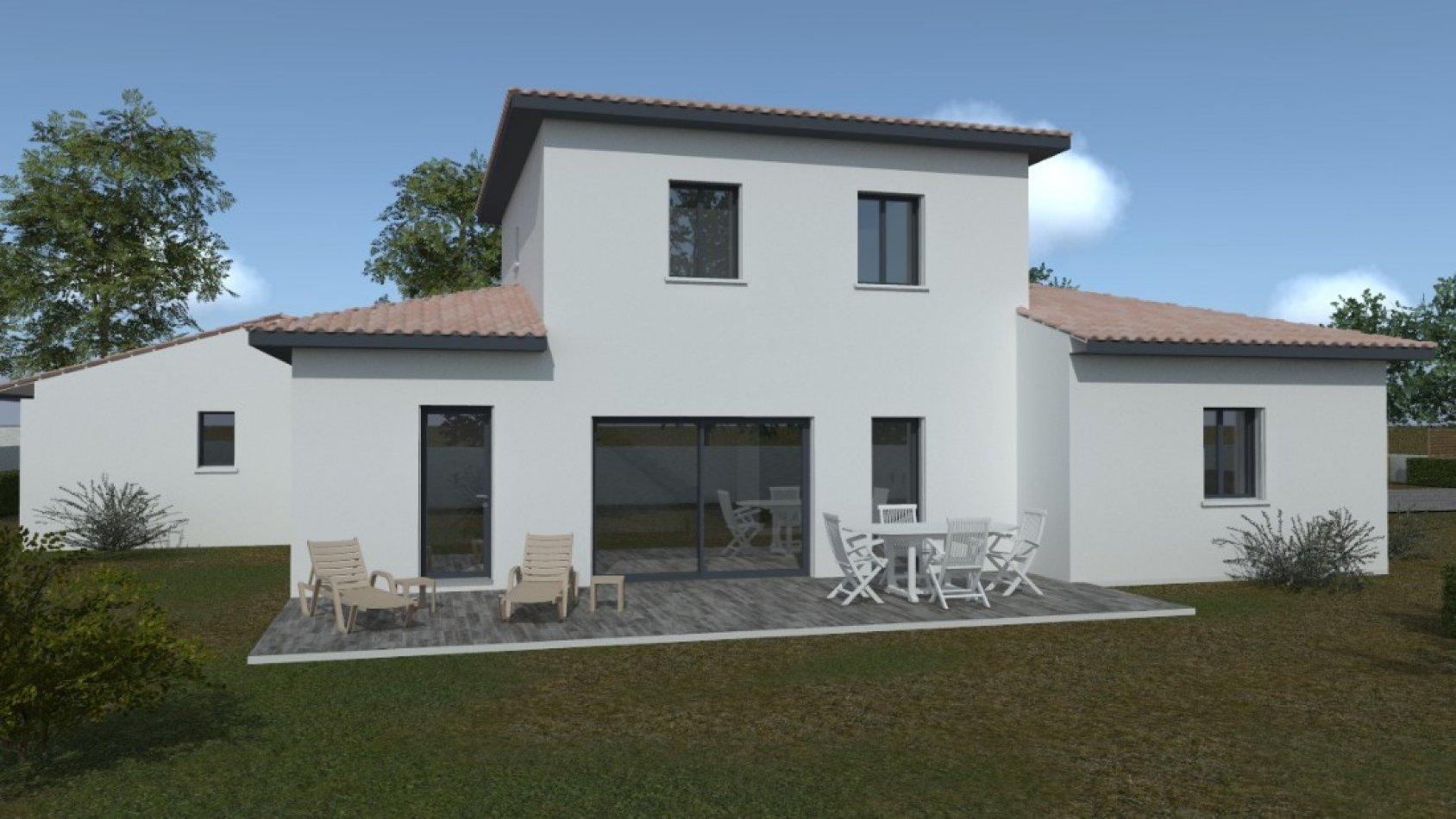 Porche D Entrée Maison Contemporaine maison contemporaine à étage de 124m² avec 4 chambres et