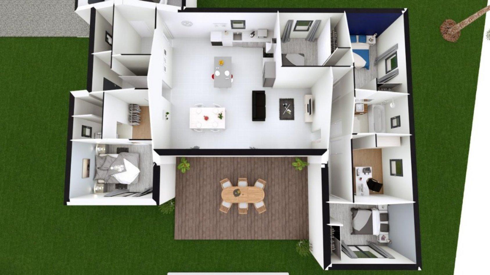 Maison Contemporaine De 135 M Avec 5 Chambres Et Un Garage Maisons Passion